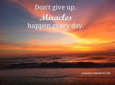 Miracles.............