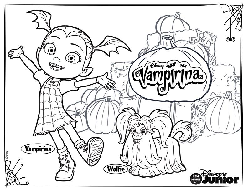 Here S A Spook Tacular Vampirina Coloring Sheet For Your Little Ones Vampirina Disney