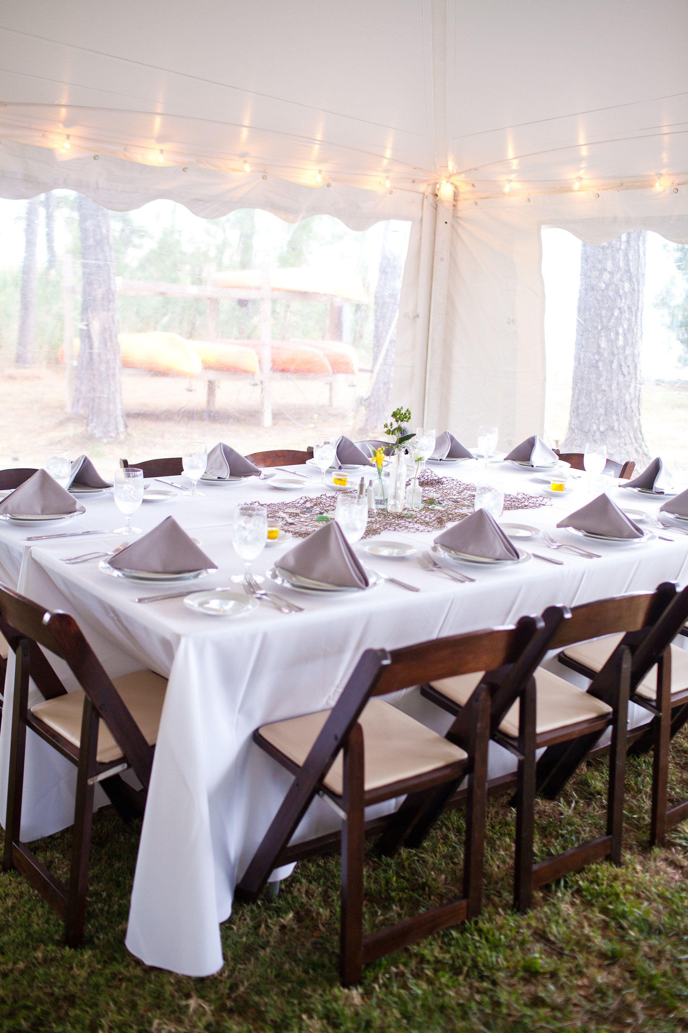 Tented Reception Outdoor Chesapeake Bay Wedding Osprey Point Eastern Shore