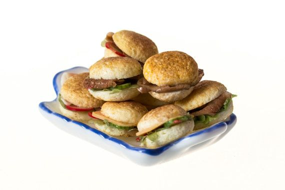 filled bread roll sandwiches dollhause miniature food