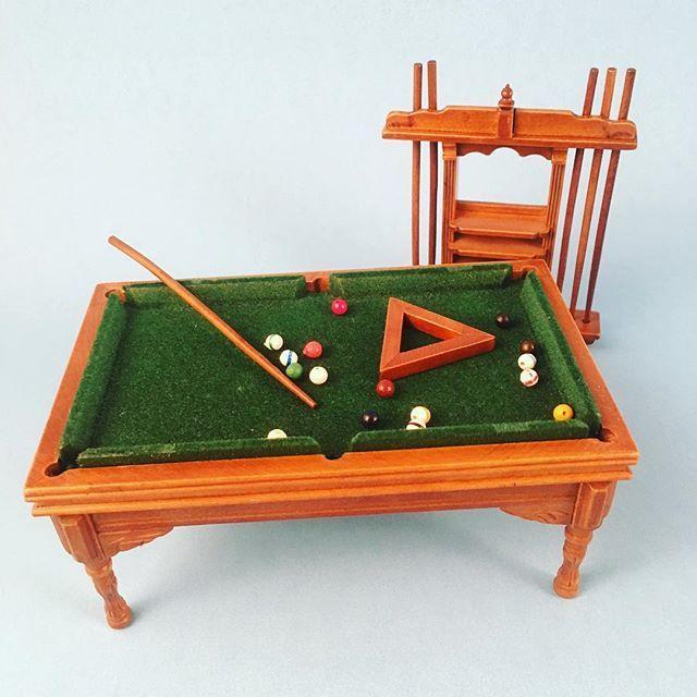 Loving This New Pool Table Dollhouse Miniature Miniatures