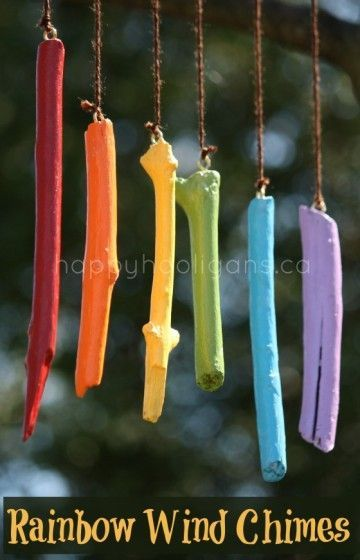 Homemade Wind Chimes Made From Painted Sticks