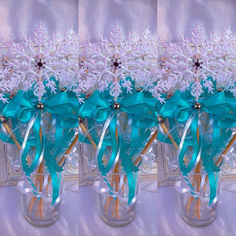 Frozen favorsSnowflake WandsElsa Frozen inspired WandFrozen Wand