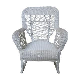 This White Wicker Rocking Chair Is Sometimes Called The Santa