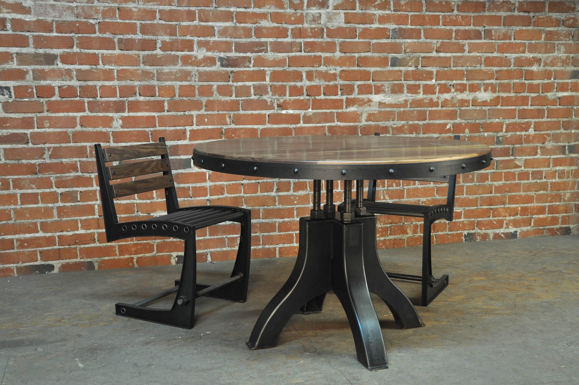 Hure Dining Table With Zen Chairs. Built By Vintage Industrial Furniture In  Phoenix.