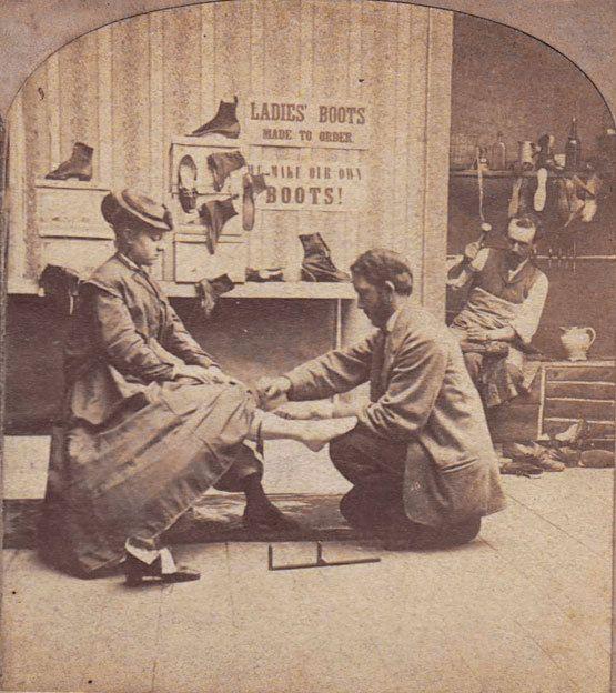 Image result for shoe clerk