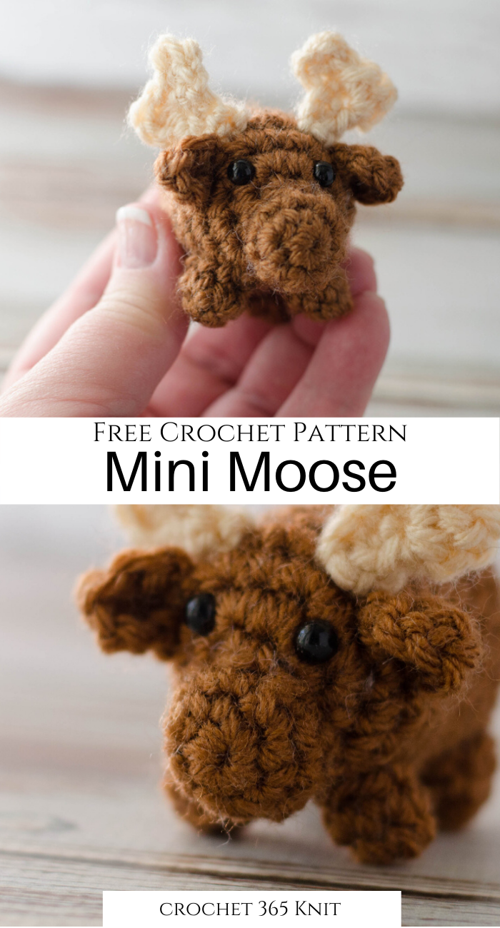 Crochet Moose - A Bitty Bumble - Crochet 365 Knit Too