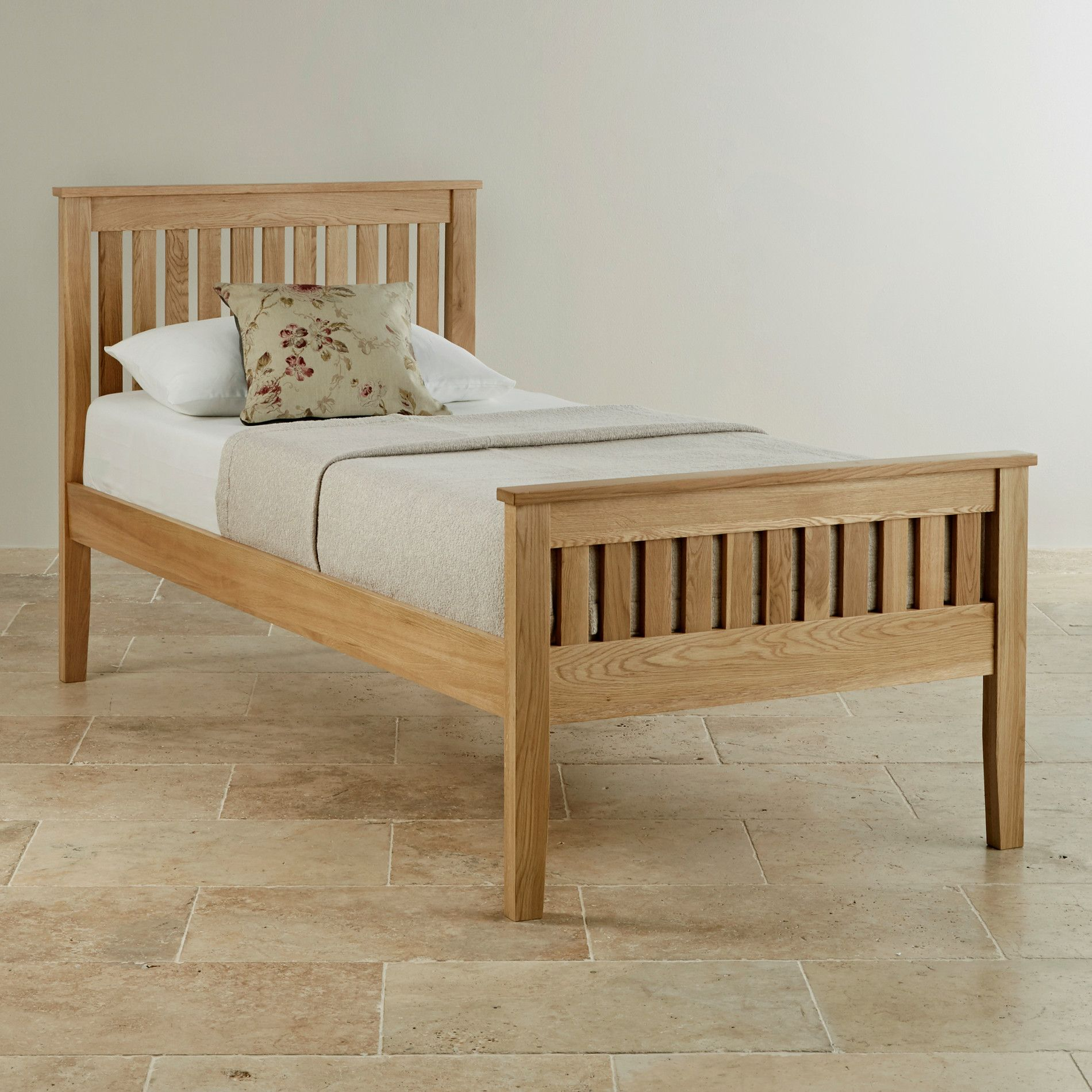 Oak Furniture Land Beds Cairo Natural Solid Oak 3ft Single Bed Jake S Bed Oak Bed