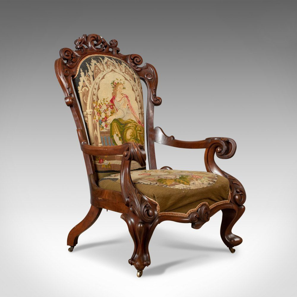 Antique Armchair, 19th Century, Victorian, Walnut in 2020 ...