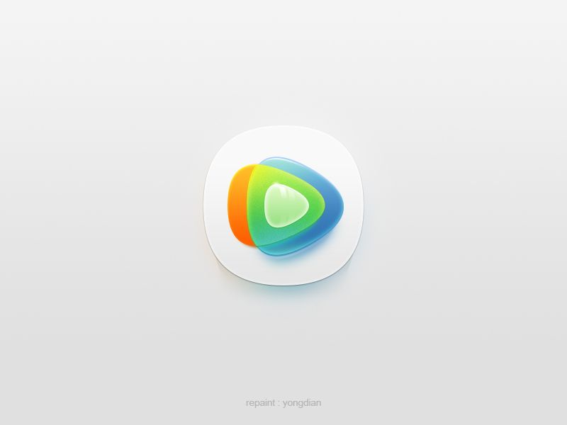 Tencent Video Flat Design Icons Eco Logo Icon Design