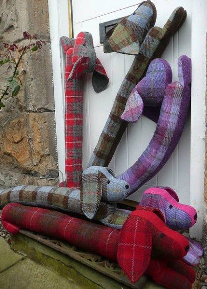 Doggie draught excluder | Draught excluders, Harris tweed and Draft ...