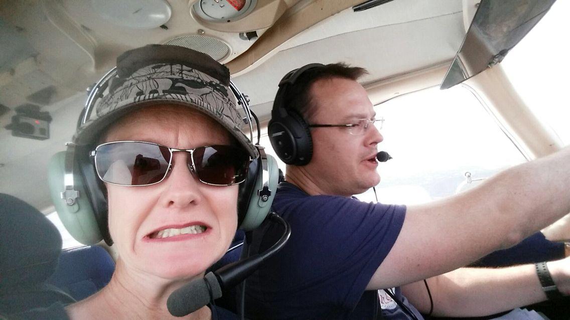 Kate's first flight as a passenger