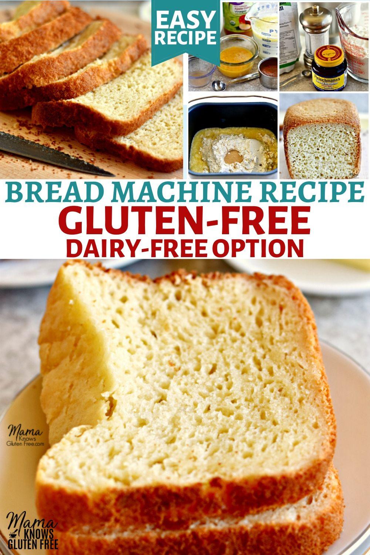 Gluten Free Bread Recipe For Bread Machine In 2020 Homemade Gluten Free Bread Gluten Free Bread Machine Recipe Yeast Free Breads