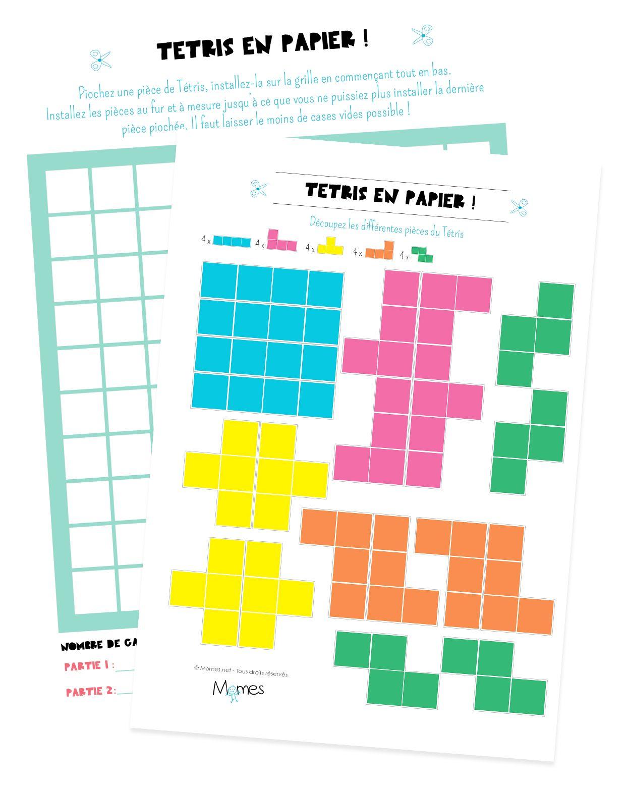 Chez Momes qu est ce qu on a pu jouer  Tetris