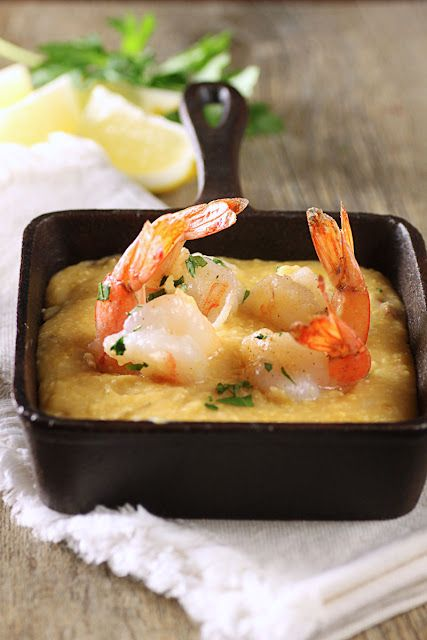 Sauteed Shrimp and Slow-Cooker Grits.