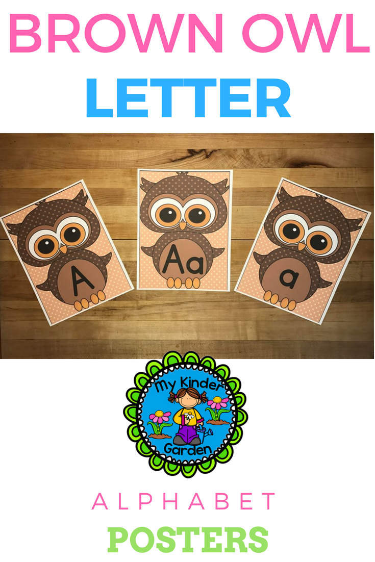 Brown Owl Full Page Alphabet Letter Posters / Word Wall Headers | My ...