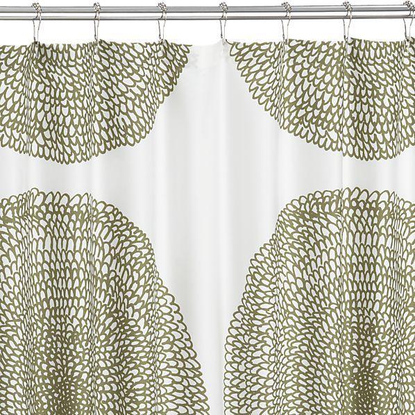 Marimekko Pippurikera Sage Shower Curtain In Shower Curtains