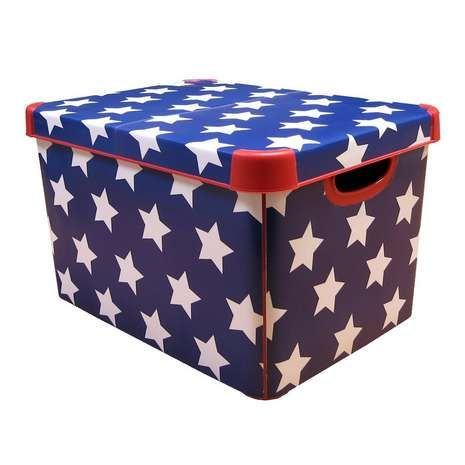 Kids Blue Star Storage Box