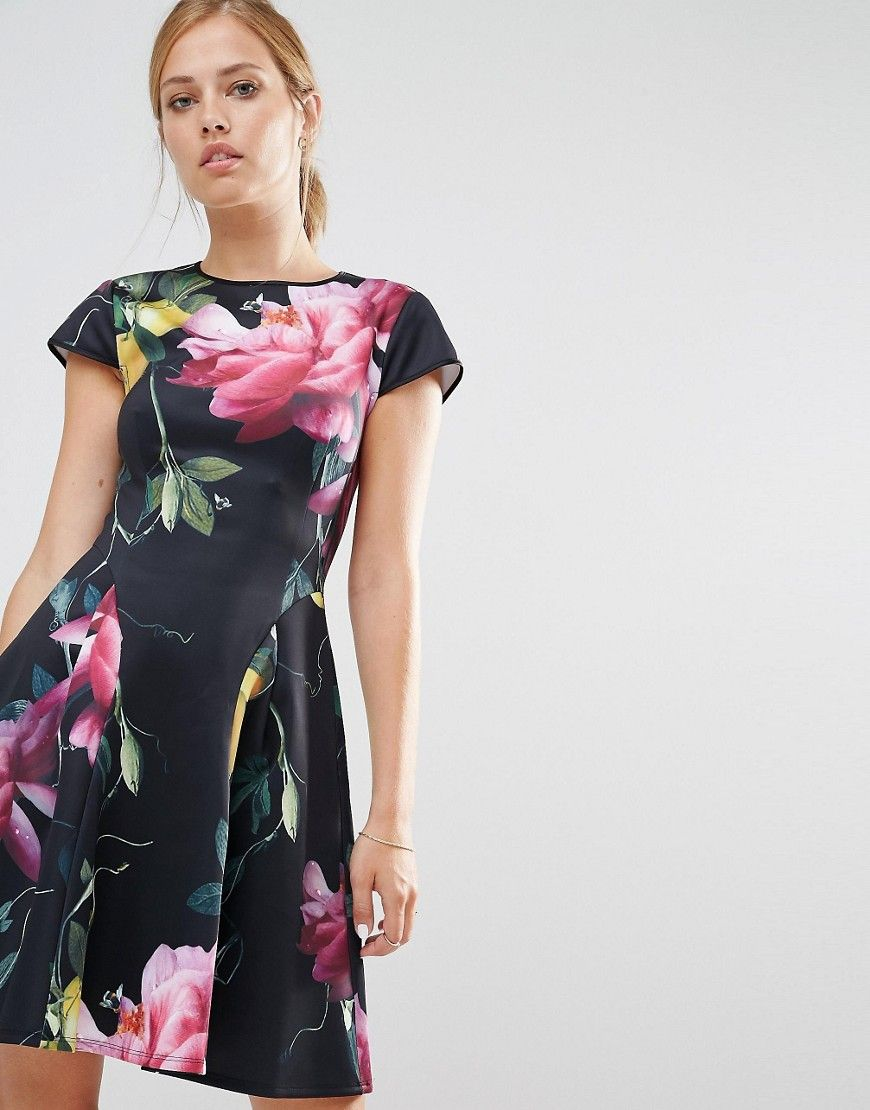 b314ca2778d Ted+Baker+Allisia+Skater+Dress+in+Citrus+Bloom+Print   homecoming ...