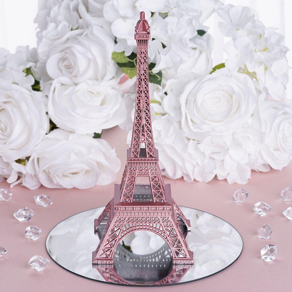10 Gold Blush Eiffel Tower Rose Eiffel Tower Centerpiece Paris Theme Wedding Paris Theme Party Decorations