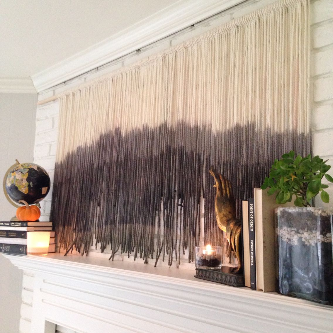 Dip Dye Tapestry Wall Hanging Above The Fireplace Tapestry Wall