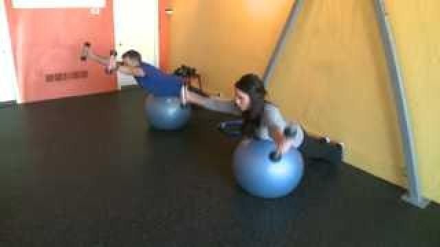Wakeup Workout: 3 quick exercises  * Alternating side lunge (5 each side) * Mountain climbers * Balance ball with weights