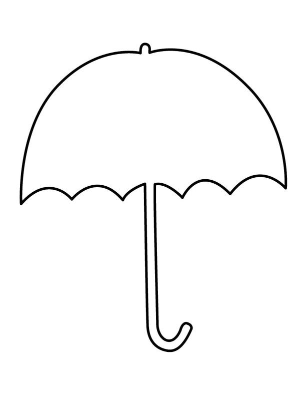 Umbrella Clipart Coloring Pages  Alkuopetusideat  Pinterest