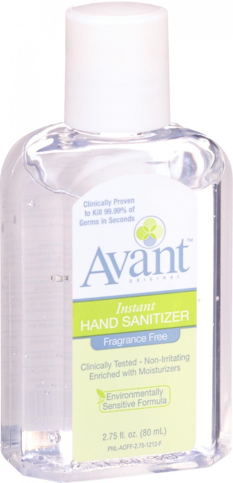 Avant Instant Hand Sanitizer Original Fragrance Free 2 75 Oz