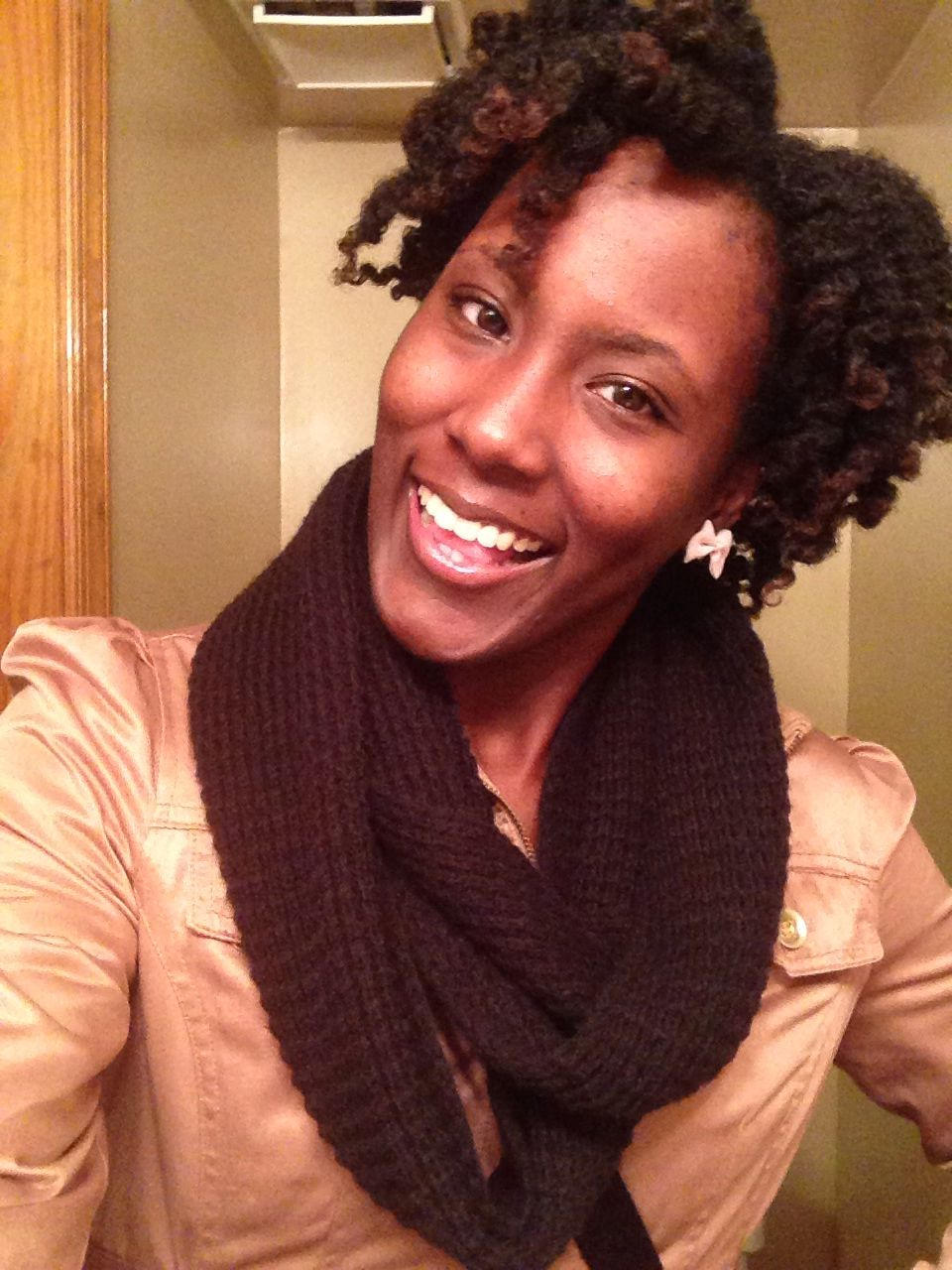 Bantu Knot Out. Products: Cantu Creamy Lotion and Tea Tree oil. #naturalhair