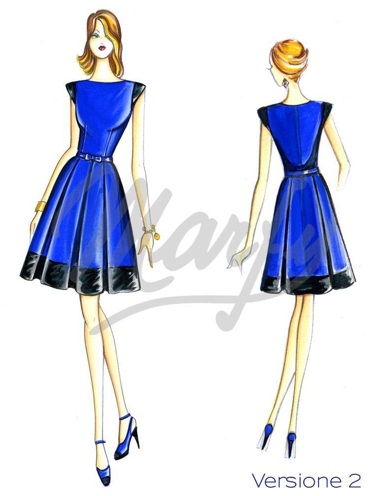 Cartamodelli Da Scaricare In Pdf Disenos De Vestido Vestidos De Dama Modelos De Vestido