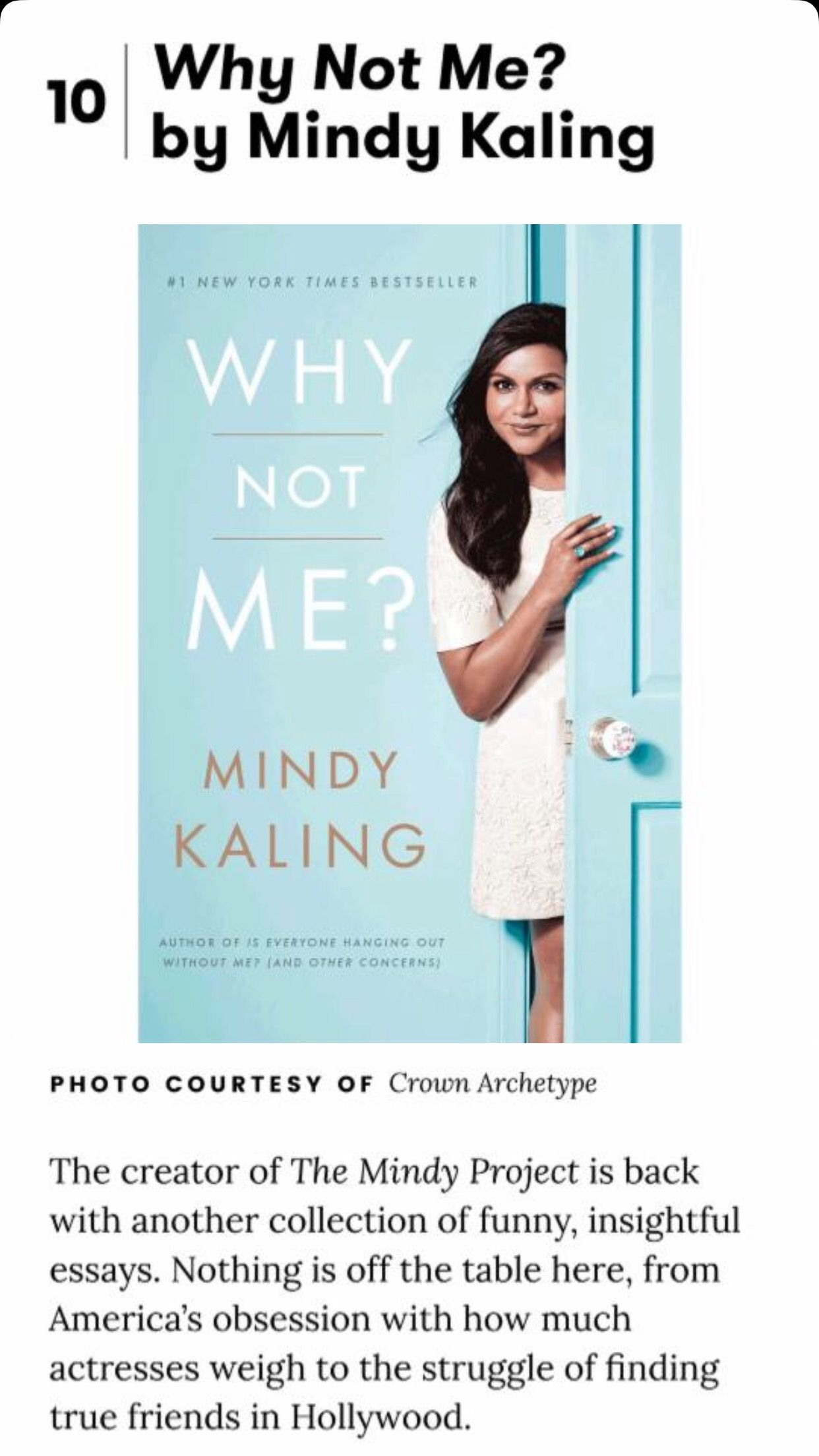 Mindy Kaling Book Pdf Why Not Me