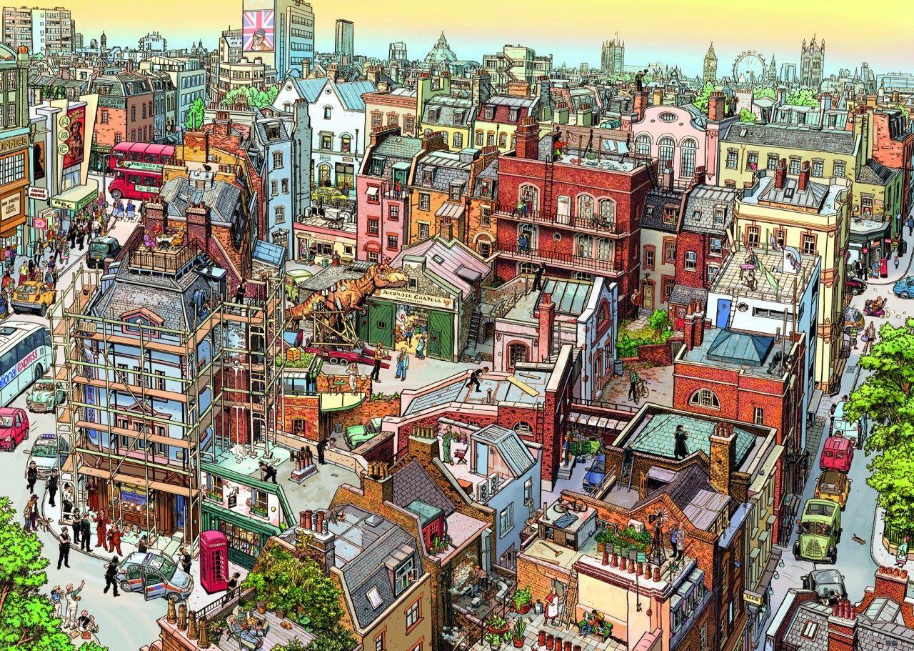 Картинка где изображен город что поставкой