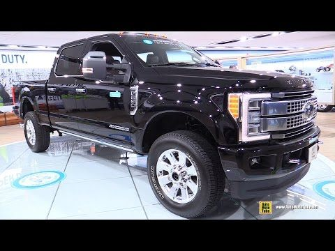 2017 Ford F250 Super Duty Platinum Exterior Interior Walkaround Debut At 2016 Detroit Auto