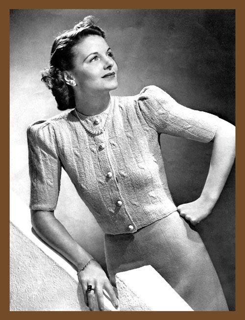 1939 vintage knitwear