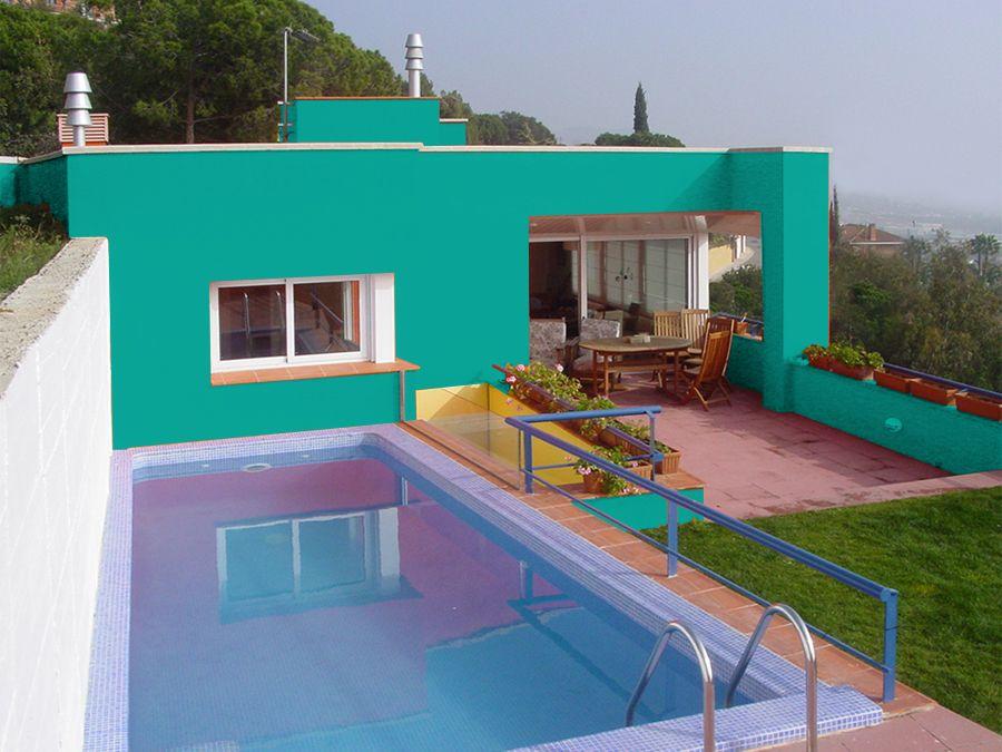 Fachadas color turquesa