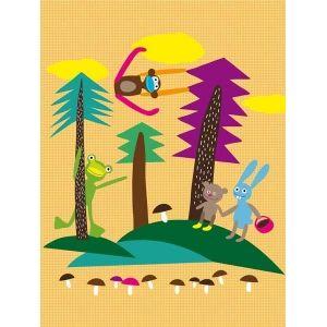 Murales Infantiles de Pared, Mural de Pared FOREST de Lavmi Kiss for Kids