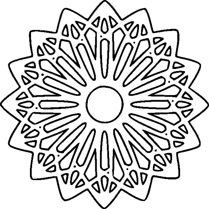 Lovely Printable Mandala Coloring Pages 45 For Download