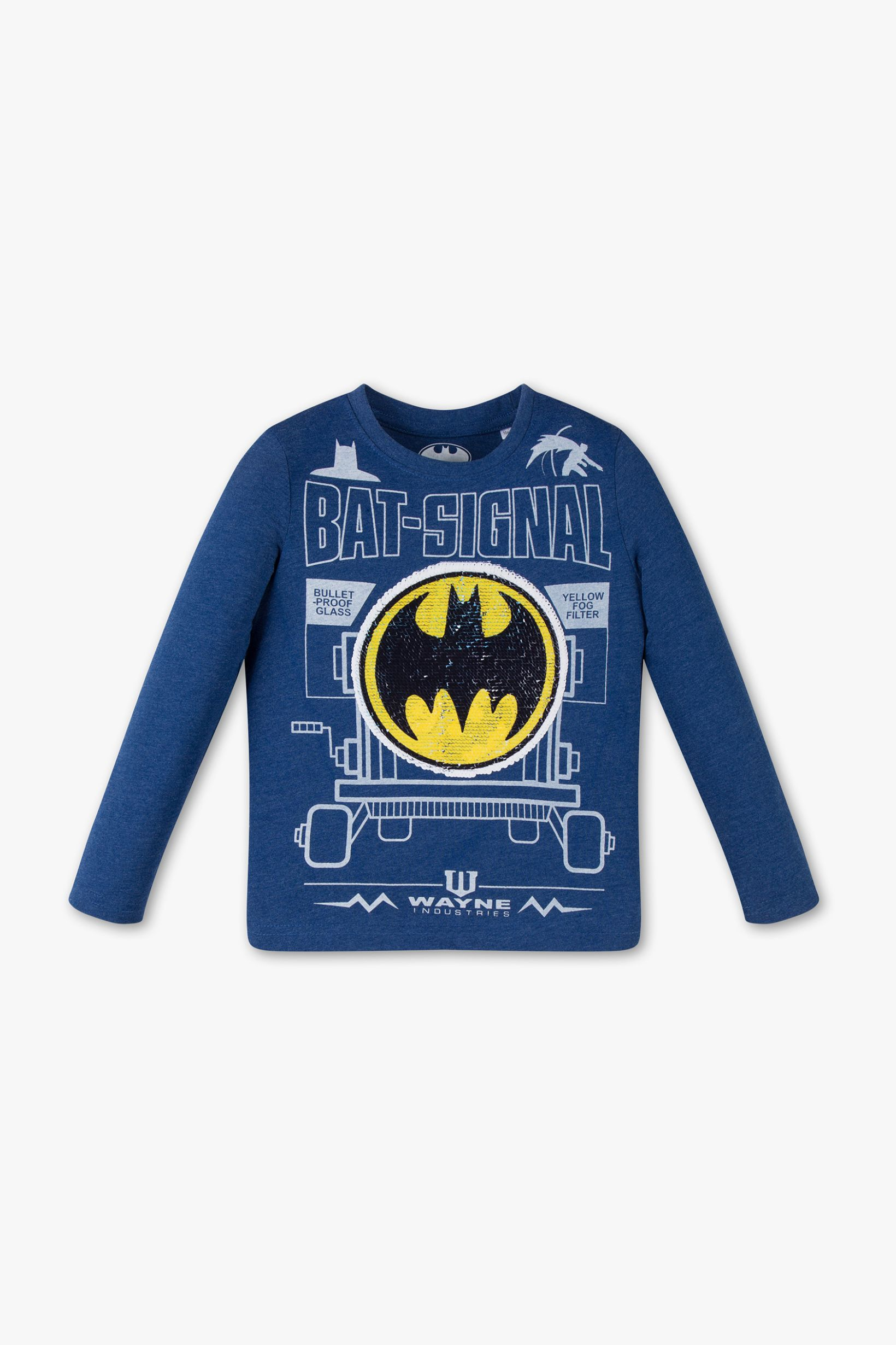 Fashion Hero Warnerbros Kids Batman Comic Fun Sequins