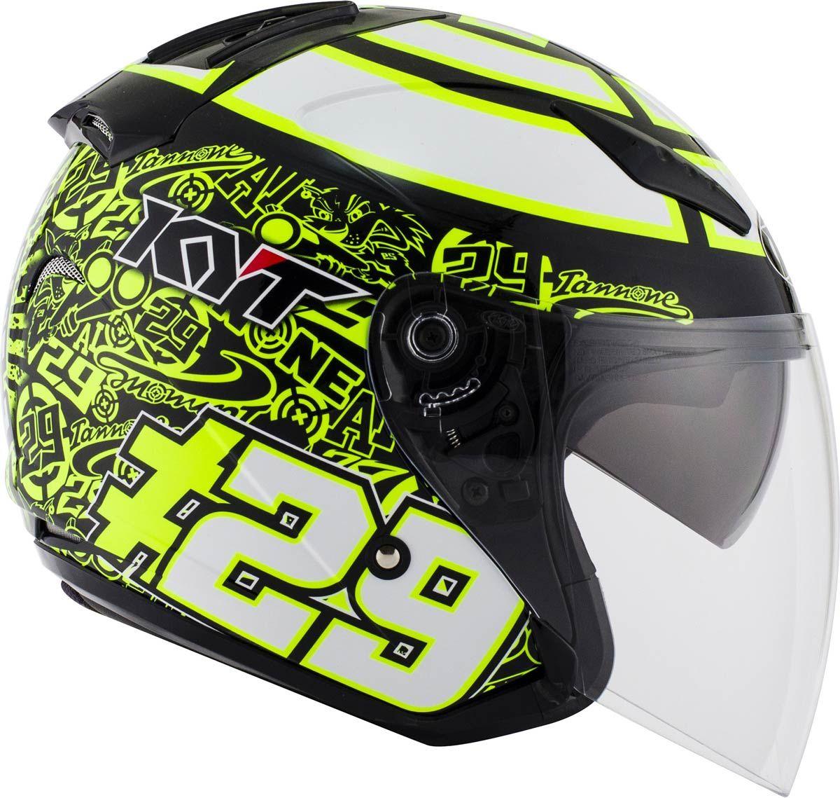 0229eedc41ab53 Pour 2016, KYT Helmets lance ce casque jet HellCat Iannone Replica