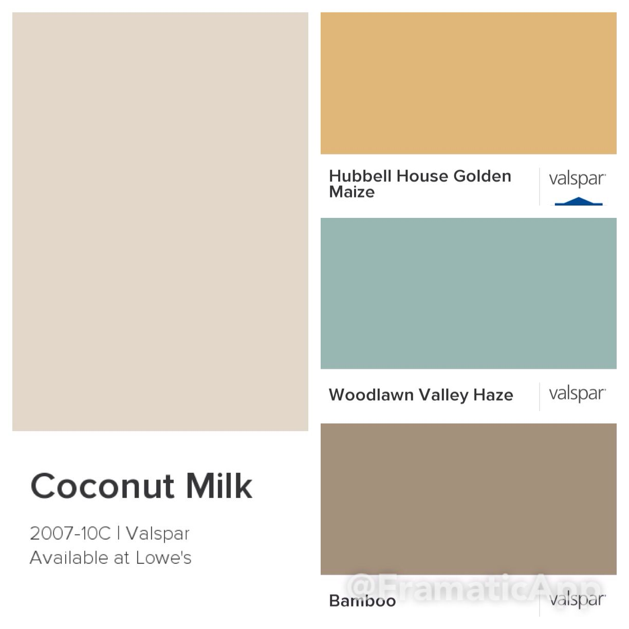 Kitchen Colors Valspar Coconut Milk