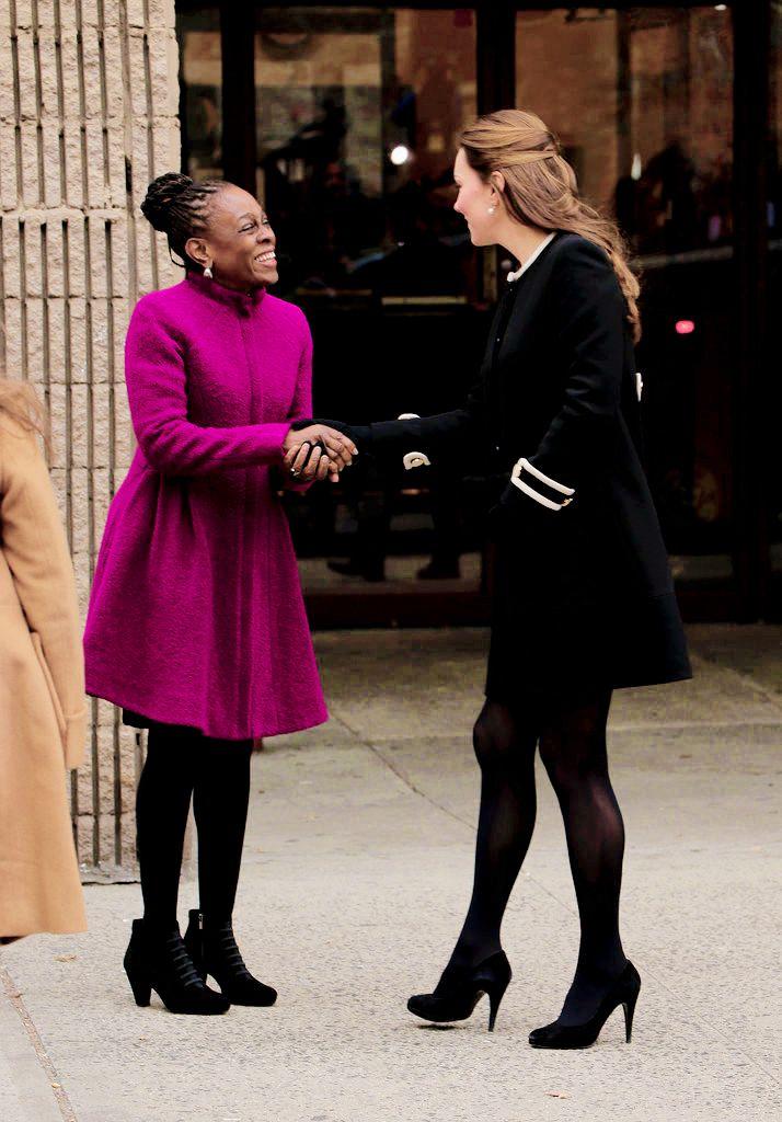 Kate visits the Northside Center for Child Development in Harlem. December 8, 2014