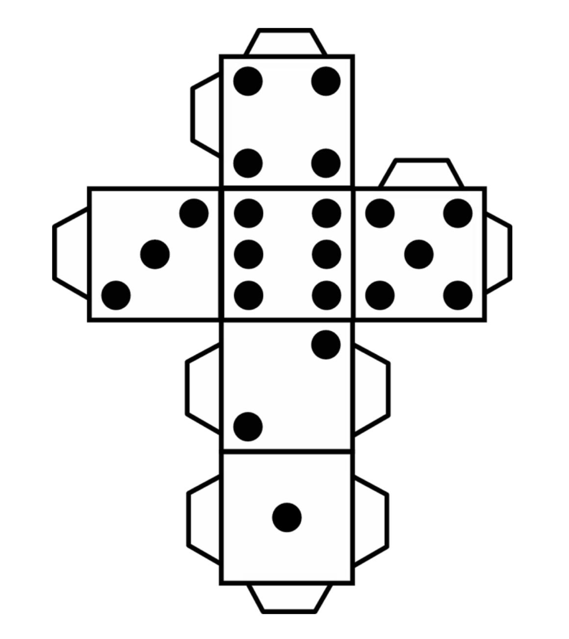 Dado imprimible | Tableros y juegos de mesa | Pinterest | Math