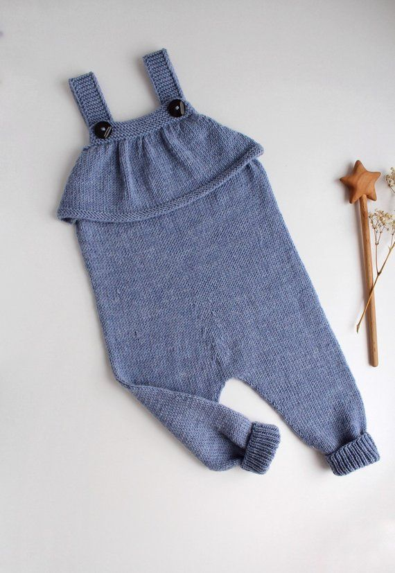 edc0f20f5604 Knit baby romper with a ruffle