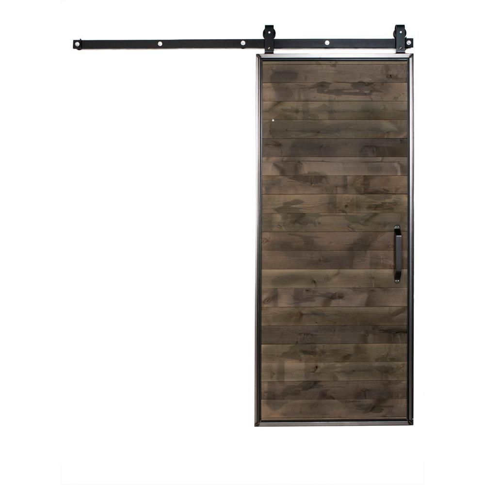 Rustica Hardware 36 in. x 84 in. Mountain Modern Home Depot Grey ...