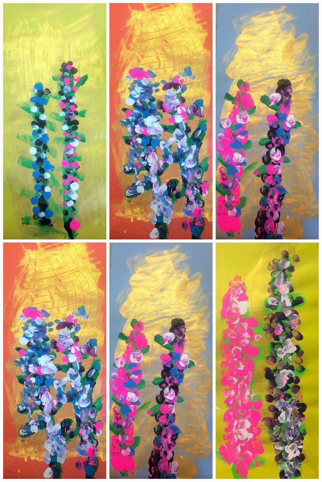 Kindergarten Lupine Blossoms With Images Spring Flower Art