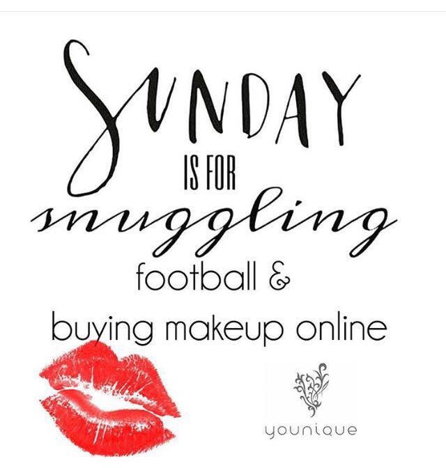Sunday Is For Snuggling Football And Buying Makeup Online With
