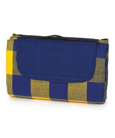 Picnic Plus Blue Yellow Plaid Waterproof Mega Mat Blanket
