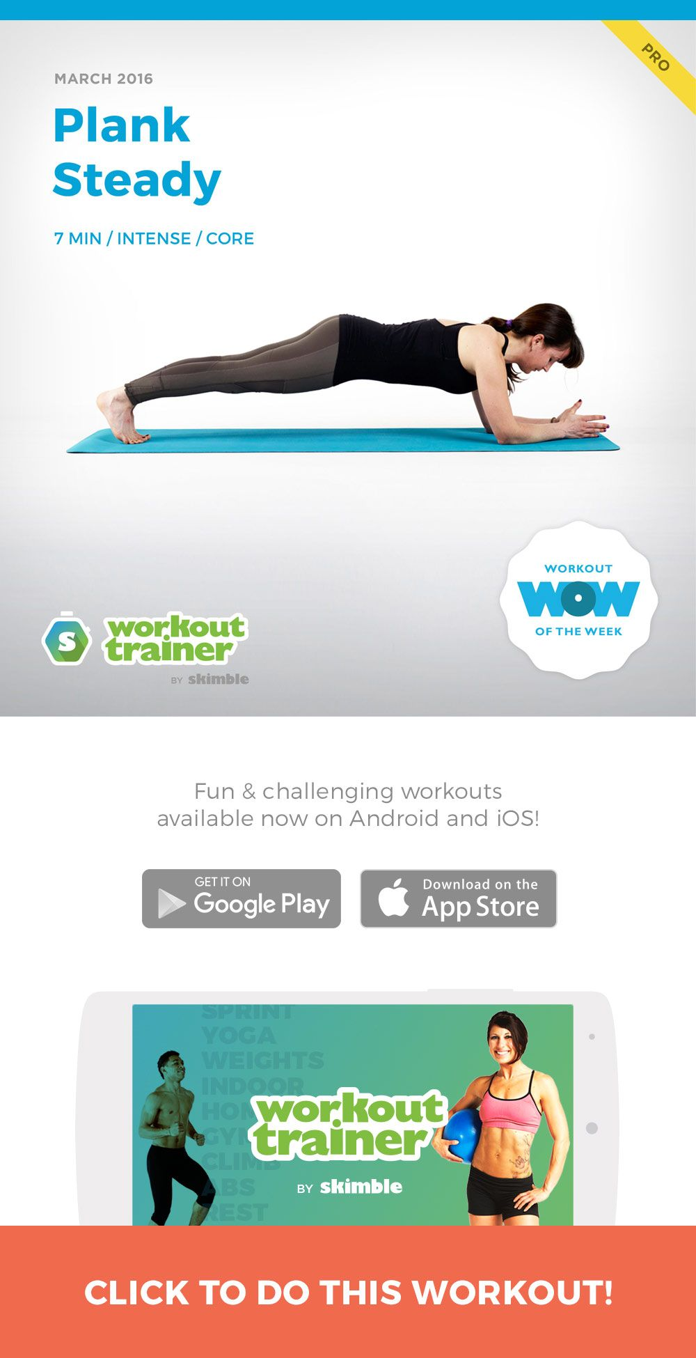Plank Steady Workout trainer app, Weights workout, Workout