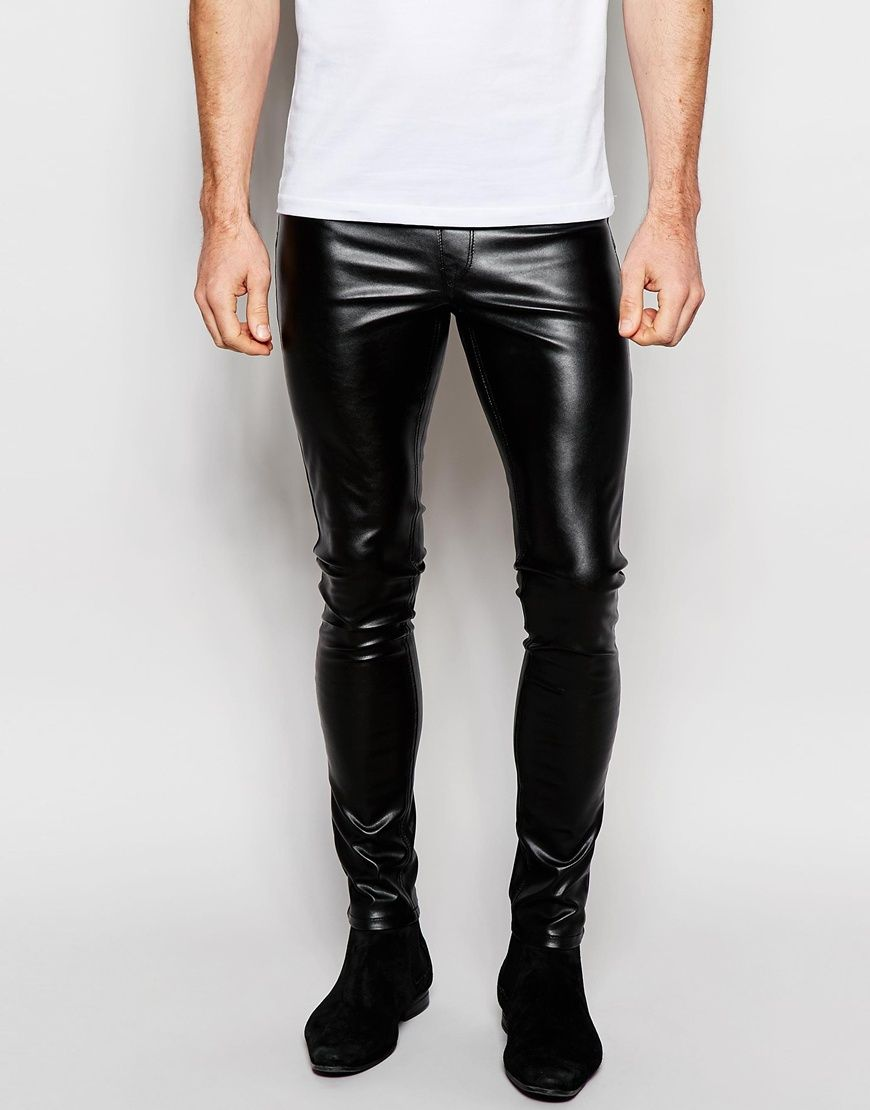 Image 1 of ASOS Meggings In Faux Leather   tight n nice   Leather ... e117c505a2