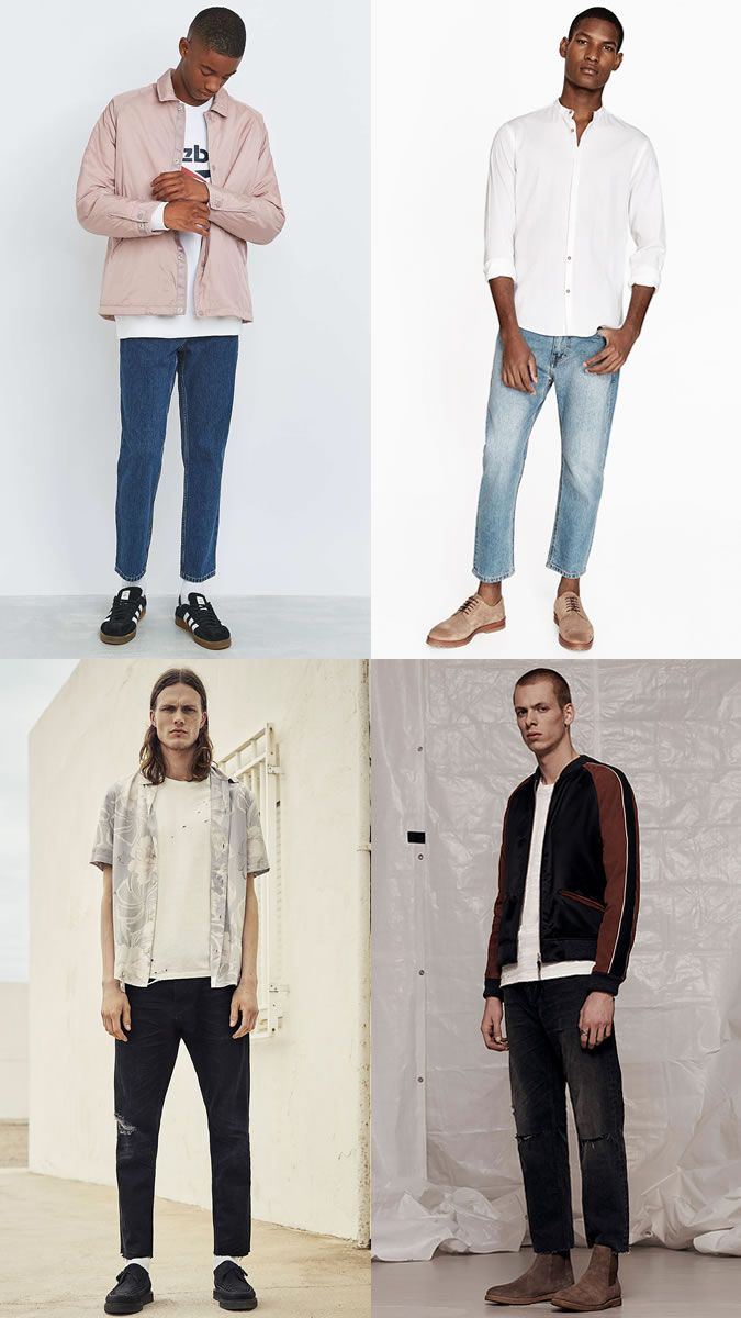 744e344ce28a Men s Spring Summer Statement Look Pull Off Guide  Relaxed Cropped Jeans  Outfit Inspiration Lookbook